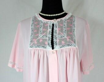 Vintage Komar Pale Pink Robe Peignoir Medium