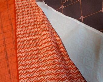 3pc Vintage KIMONO Fabric scrap