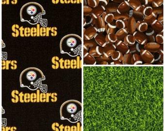 Crib Bedding Steelers Football Baby Boy Crib Bedding Set Bumpers Sheet Blanket Skirt NFL