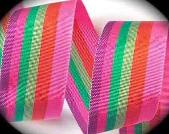 """Acetate Stripes Ribbon - 1 1/2"""" x 1 yd - Acetate Stripes in Multiple Colors"""