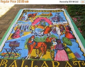 ON SALE Tea Towel Vintage from Sovereign Hill, Ballarat, Australia.