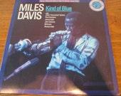 Mile Davis Kind of Blue vintage LP John Coltrane, Cannonball Adderly, Bill Evans Rare Jazz LP, Vinyl Record album