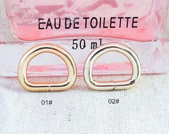 10Pcs 13mm D-ring - High Quality For Craft Bag Purse,  Gold, Light Gold Color for choice-- T304