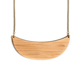 Statement necklace - collar necklace - jewelry made in Australia - wooden necklace - minimal - eco