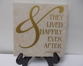 Personalized Anniversary Decal on a tile 50 years Wedding Golden Anniversary