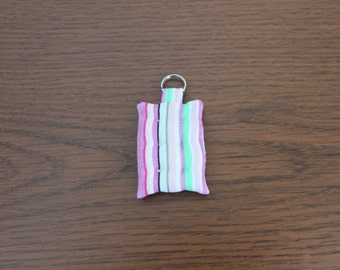 Tufted Mattress Key Chain Pastel Stripes Free US Shipping