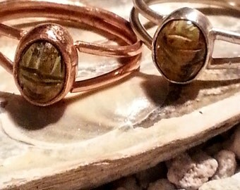 Scarab Ring in Copper or Silver