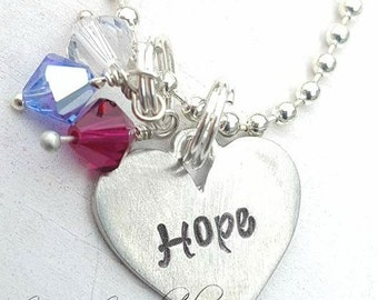 Hope Hand Stamped Necklace Gift Set