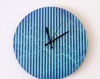 SALE, Unique Wall Clock, Blue Wall Clock, Decor and Housewares, Home and Living, Home Decor, Homespunsociety