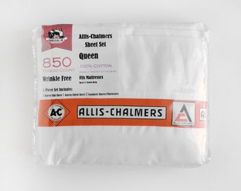 Allis-Chalmers Tractor Sheet Set, Available in Twin, Full, Queen or King