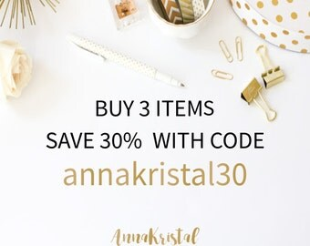 Buy 3 items, save 30% with promo code annakristal30