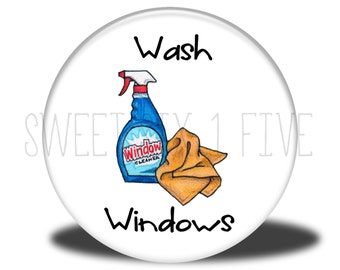Wash Windows - Chore Magnet