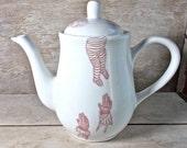 Labyrinth Teapot, You Remind Me of the Babe, Tall Porcelain Tea Pot, Teapot, David Bowie, Jim Henson, Large 40 oz, Ready to Ship