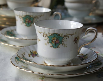 Royal stafford 'True love' vintage china tea cup trio