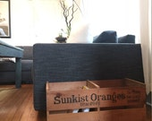 VINTAGE SUNKIST Wooden Crate Book Shelf or End Table California Decor