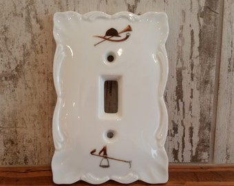 The Huntsman Light Switchplate, Vintage Light Switch Plate, Switch Plate