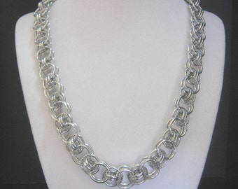 Aluminum Helm Weave Chain Maille Jewelry Set