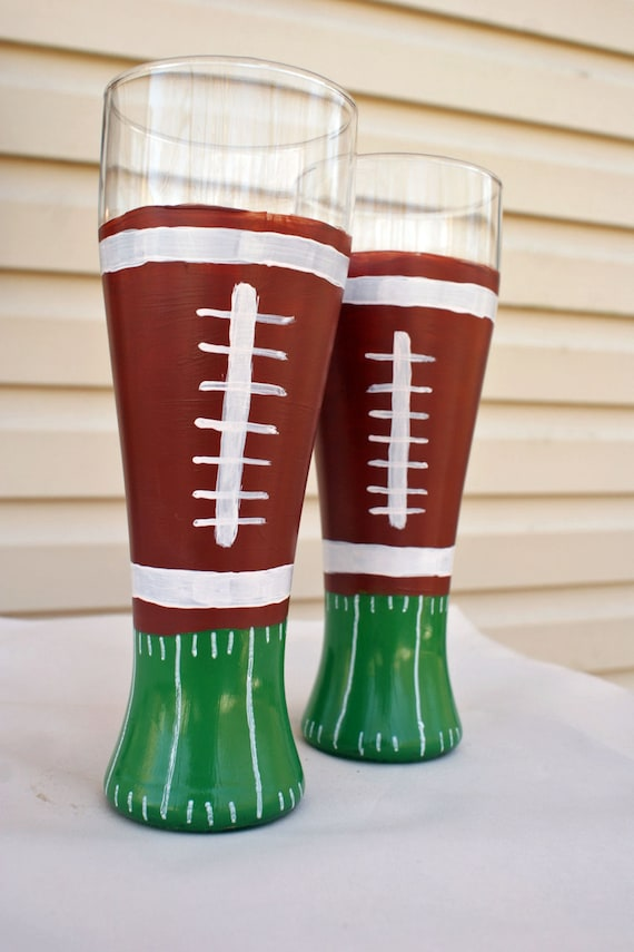Hand Painted Christmas Beer Glasses