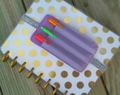 Planner cover Pen Holder Bookmark, Planner Band, Vinyl Stretchy Bookmark