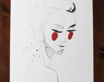 Hannah - Pen & Ink Illustration Print