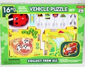 "Children's Puzzle and Lady Bug Vehicle for any occasion Gift ""Free Shipping AND 2 Day Priority Mail"""