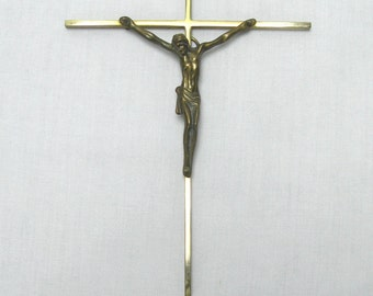 Brass French Crucifix , Crucifix, French Crucifix, Brass Crucifix, Wall Mounted Crucifix, French Crucifix (012)