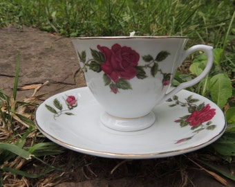 Green Tea Teacup Candle and Saucer