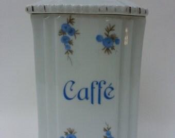 Vintage Italian Caffe Jar, Coffee Beans, Espresso, Moka