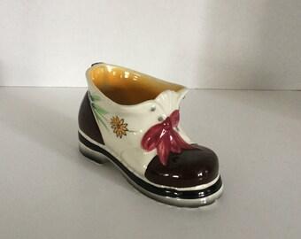 Vintage Shoe Planter,Boot Planter,,Hens and Chics,Florart