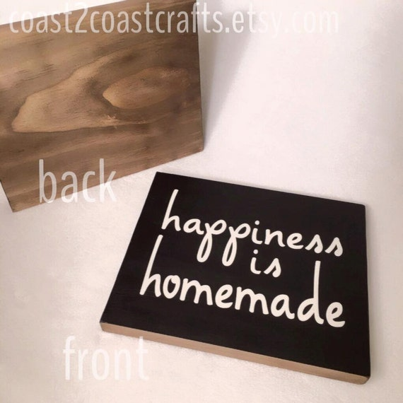 Happiness Is Homemade Handpainted Sign Handmade 12x12 Wall: Happiness Is Homemade Wooden Sign Decor 7.5X9