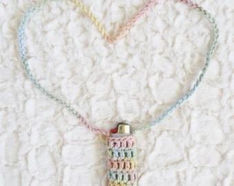 Customizable Crochet Lighter Leash - 50 Colors - Festival Lighter Holder Necklace - Made to Order - Noelebelle