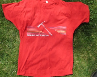 Vintage 1980s Tee Shirt Red Tee Shirt Hipster shirt
