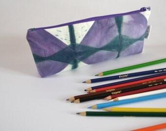 Pencil Pouch, Zipper pouch, Art Case, Pencil Case, School Supplies, Purple Bag
