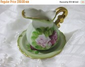 20% Heart Sale Antique Hand Painted Rose-Ruben's Originals Limoges Miniature Porcelain Water Pitcher And Basin