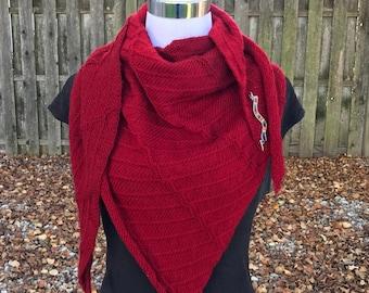 Asymetrical Triangle Shawl knitting pattern download