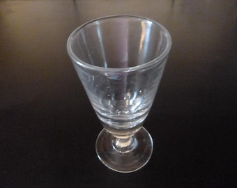 French Antique Absinthe Glass Blown Unpolished Pontil Circa 1905 Bistro Cafe Glasses ABO1