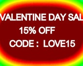 15% Off VALENTINE Day Sale coupon!!!!!!!!!!