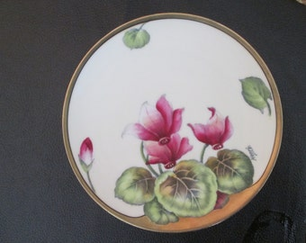 Hand Painted and Signed Bavarian China Decorated Plate