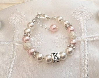 Baby Bracelet-Personalized-Initial-baby gift