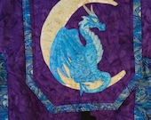 Dragon Backpack - Quilted Dragon - Hand Made - Fantasy Art