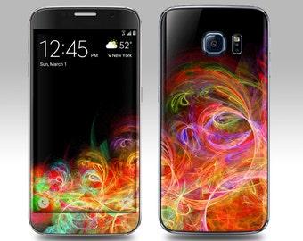 FRACTAL Galaxy Decal Galaxy Skin Galaxy Cover Galaxy S6 Skin, Galaxy S6 Edge Decal Galaxy Note Skin Galaxy Note Decal Cover