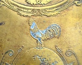 Sale 5.00 off World Poultry Congress Plaque 1927 Canada -- Don't Be a Chicken, Pluck It