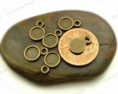 10 Cabochon Settings Antique Bronze Tone - Fits 6mm Cab, Round Bezel Trays, Cameo Base, Pendant Blanks - BA36
