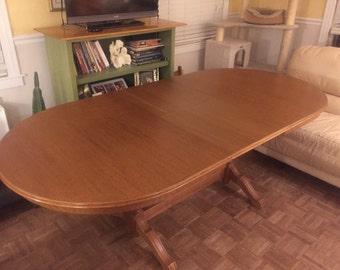 Oak dining table for 6-10