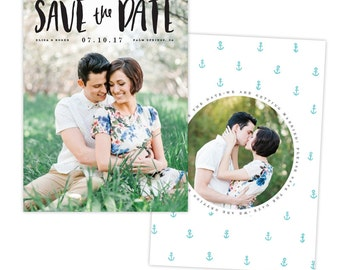 INSTANT DOWNLOAD - Save the Date card | Vintage Pearl -  E1338