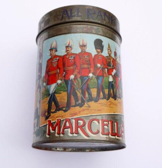 Vintage MARCELLA Cigars Tin - All Ranks Smoke Marcella Cigars Vintage Smoking Vintage Tobacciana Vintage Advertising Vintage Tin
