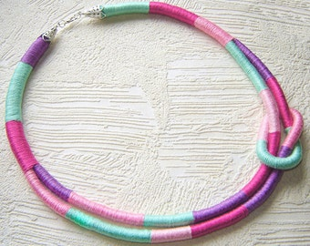 Thread Wrapped Necklace Knot