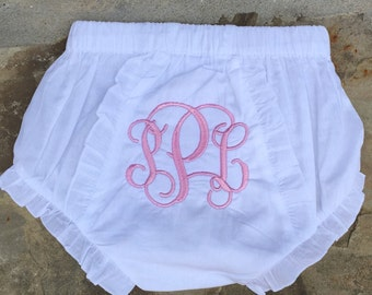 Embroidered bloomers /  diaper cover / bloomers / monogrammed bloomers
