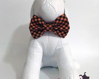 Halloween Plaid (Orange and Black) Bow Tie