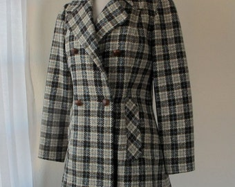 Vintage Pendleton Coat - Women's Double Breasted with Lapels